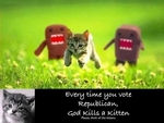 Image page[Save the Kittens, Vote Democratic!]